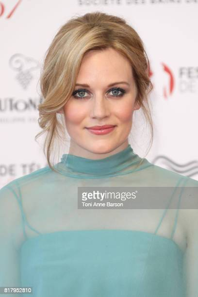 Cara Theobold arrives at the Opening Ceremony of the 57th Monte Carlo TV Festival and World premier of Absentia Serie on June 16 2017 in MonteCarlo...