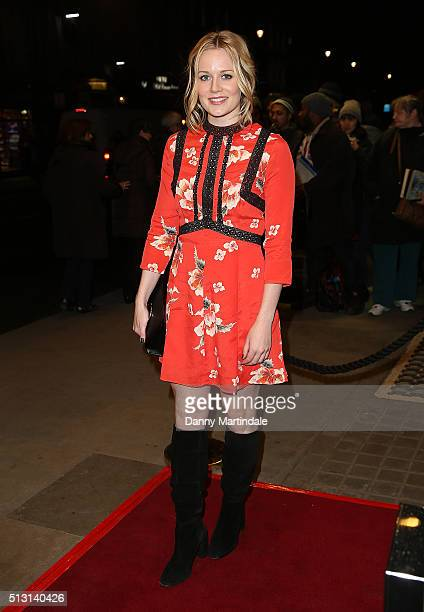 Cara Theobold arrives for Gala performance of 'The Maids' at Trafalgar Studios on February 29 2016 in London England