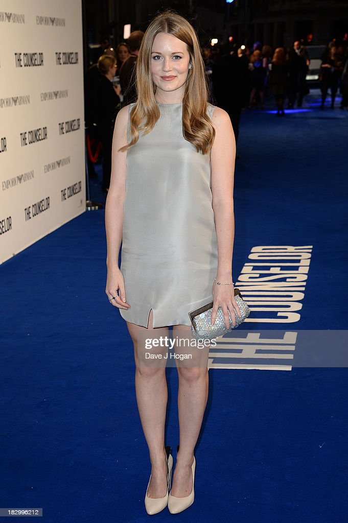 Cara Theobold attends a special screening of 'The Counselor' at Odeon West End on October 3, 2013 in London, England.