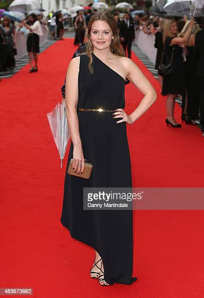 Cara Theobold attends as BAFTA celebrate 'Downton Abbey' at Richmond Theatre on August 11 2015 in Richmond England