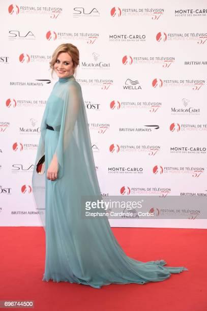 Cara Theobold attends the 57th Monte Carlo TV Festival Opening Ceremony on June 16 2017 in MonteCarlo Monaco
