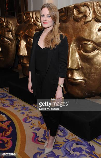 Cara Theobold attends the BAFTA Nominees Party at The Corinthia Hotel on April 22 2015 in London England
