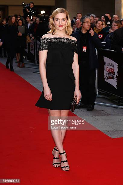Cara Theobold attends the Jameson Empire Awards 2016 at The Grosvenor House Hotel on March 20 2016 in London England