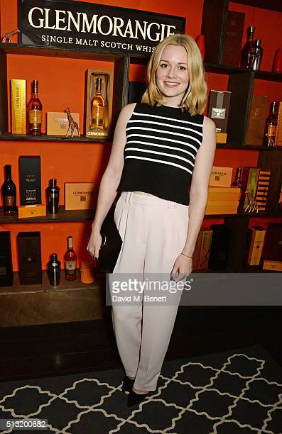 Cara Theobold attends the launch of Glenmorangie and Finlay Co collaboration 'Beyond the Cask' on March 1 2016 in London England