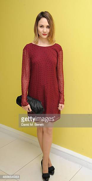 Cara Theobold attends the preparty for the English National Ballet's The Nutcracker at St Martin's Lane Hotel on December 12 2013 in London England