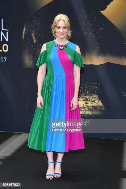 Cara Theobold from 'Absentia' attends a photocall during the 57th Monte Carlo TV Festival Day 2 on June 17 2017 in MonteCarlo Monaco
