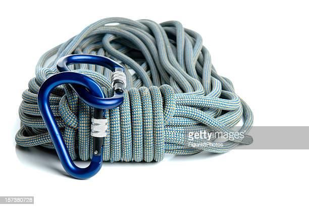 Screwgate-Karabiner und Seil