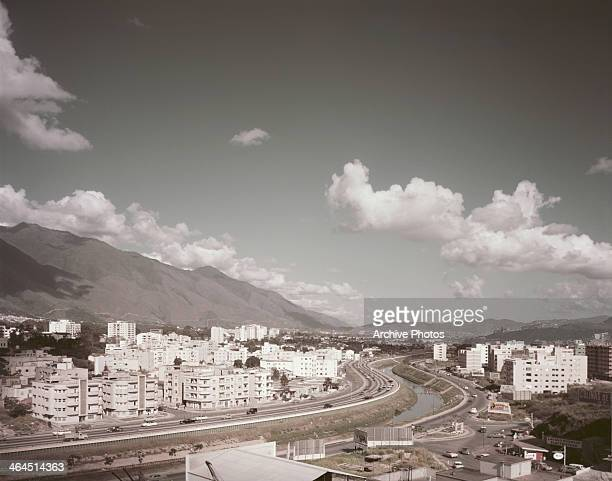 Caracas capital of Venezuela on the River Guaire circa 1960