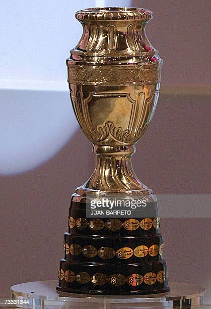 The Copa America trophy is exhibited during the Copa America 2007 football tournament draw 14 February 2007 in Caracas The Copa America 2007 will be...