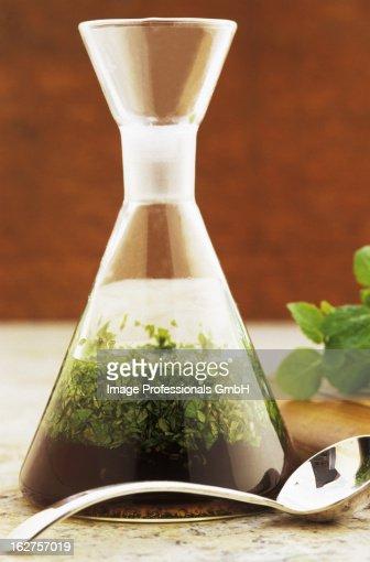 Carafe of mint sauce