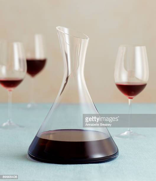 Carafe of red wine