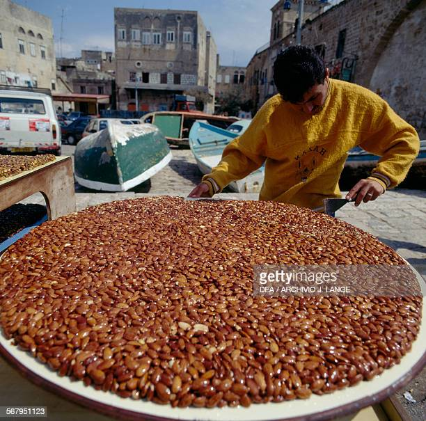 Caramelised sugar and almond vendor in Acre Israel
