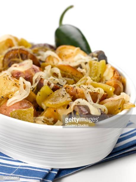 Caramelized Onion & Roasted Chili Potato Salad