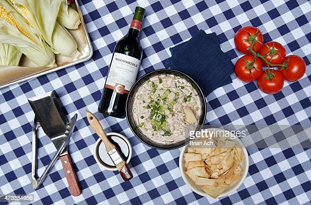 Caramelized Woodbridge by Robert Mondavi Wine Onion Party Dip is seen at the Woodbridge Wine 'Cue Sauce Block Party on May 14 2015 at Butter in New...