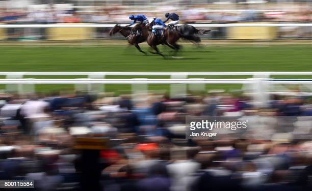 Caravaggio ridden by Ryan Moore wins the Commonwealth Cup on day 4 of Royal Ascot at Ascot Racecourse on June 23 2017 in Ascot England