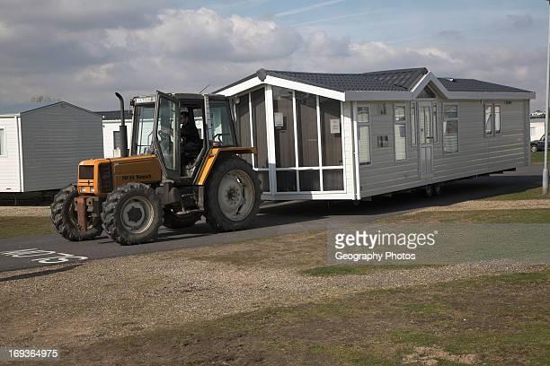 Caravan park out of season Kessingland Suffolk England