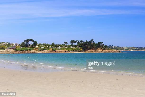 Caravaning near the beach in France