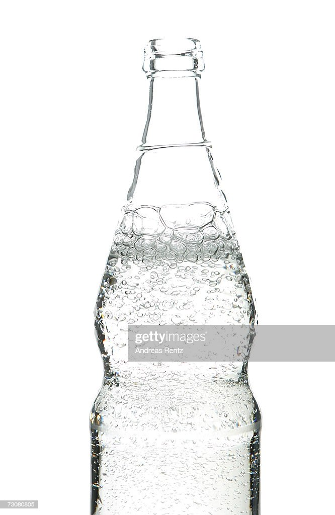 Carbonated mineral water bubbles out of a bottle on January 14, 2007 in Berlin, Germany.
