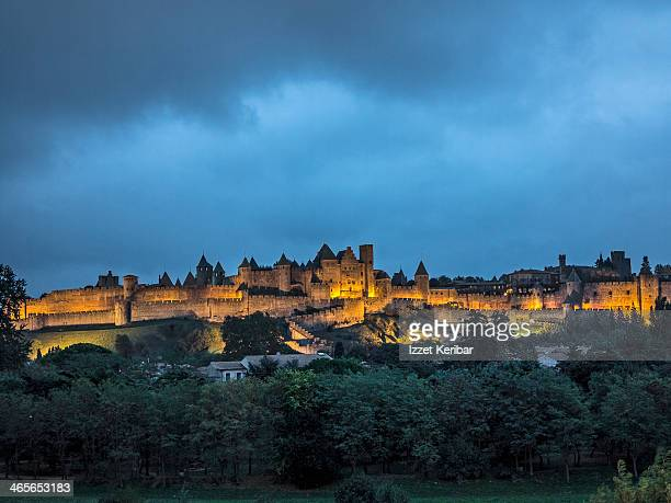 Carcassonne afternoon views of the medieval city