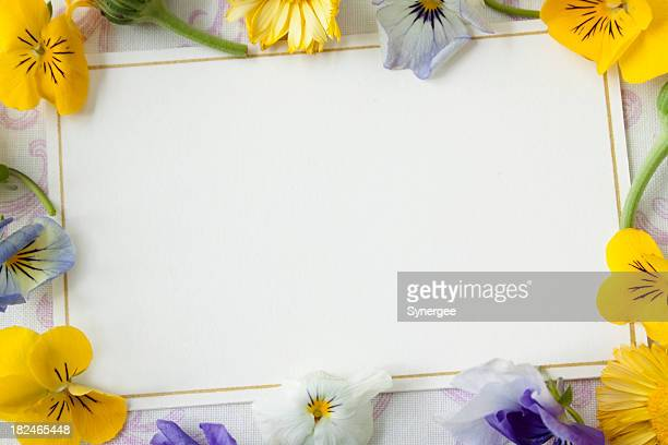 Card with flowers,