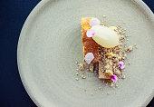 Cardamom Sponge Cake with Tart Lemon-Honey Sorbet