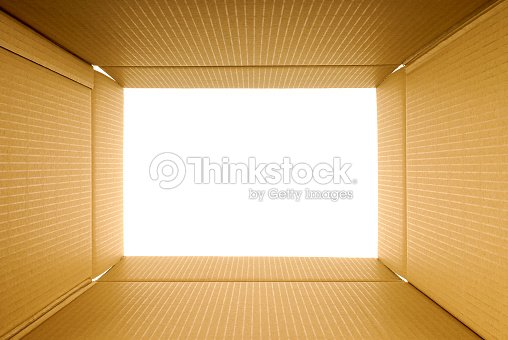 Cardboard Box Frame View From Inside Copy Space Stock Photo | Thinkstock