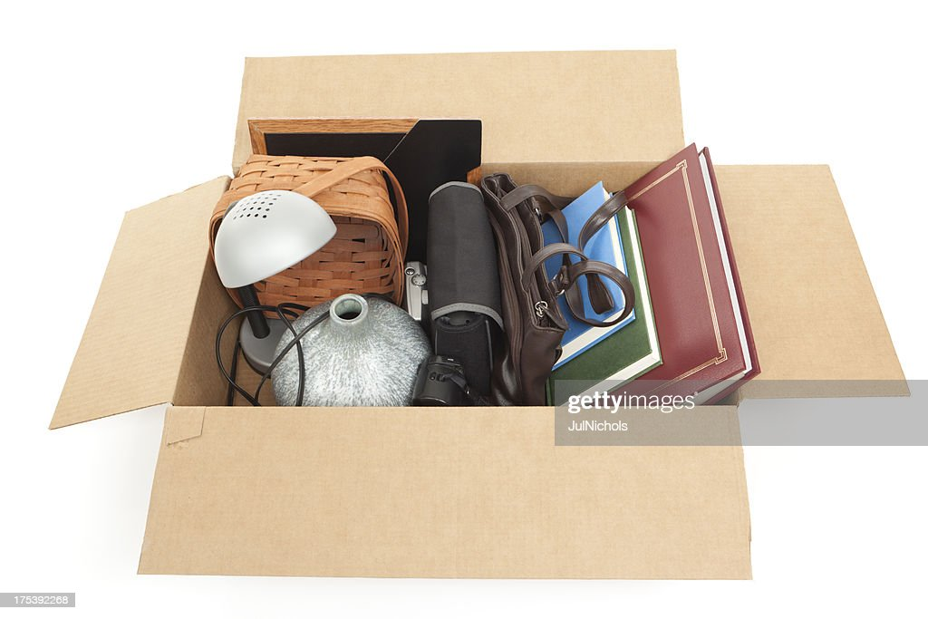 Cardboard Box of Household Items