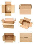 Cardboard box. Open