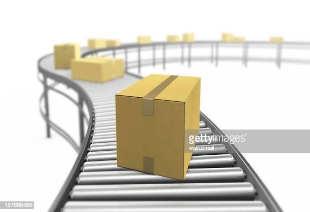 Cardboard boxes. 3D render.