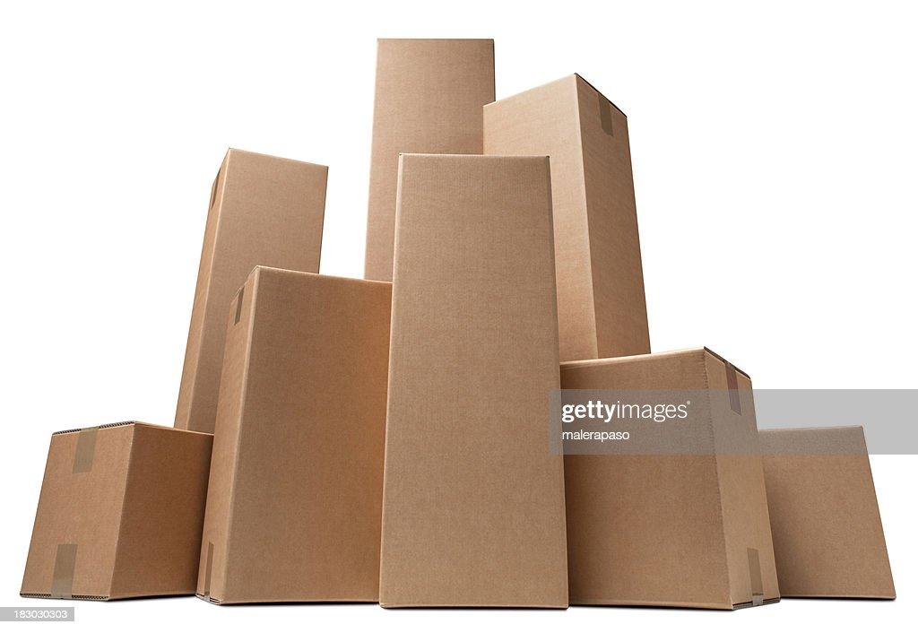 Cardboard boxes like a city