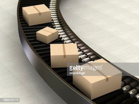 Cardboard Boxes on Conveyor