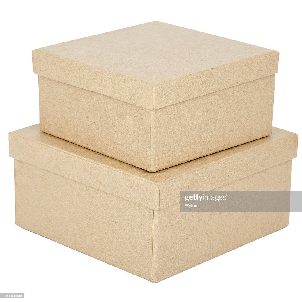 Caixas de cartão : Foto de stock