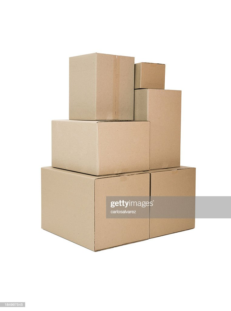 Cardboard Boxes with clipping path