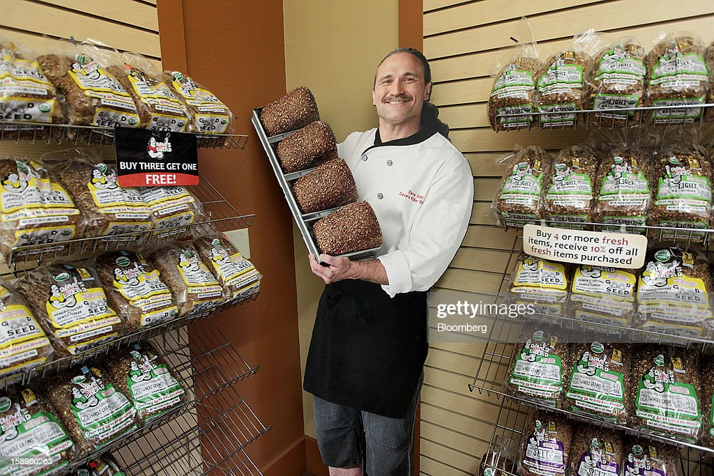 A cardboard cut out of Dave Dahl, founder of Dave's Killer Bread, stands in the company's shop in Milwaukie, Oregon, U.S., on Friday, Jan. 4, 2013. Goode Partners, a private equity firm specializing in growth investments in the branded consumer products sectors, has purchased a fifty percent stake in Dave's Killer Bread which will help the company expand into new markets around the country. Photographer: Natalie Behring/Bloomberg via Getty Images