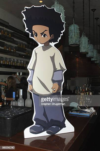 Cardboard cutouts of the characters on display at the Los Angeles Launch Party For The TV Series 'The Boondocks' at Mood on November 1 2005 in...