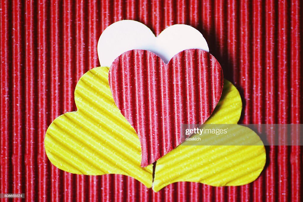 Cardboard heart shape : Stock Photo