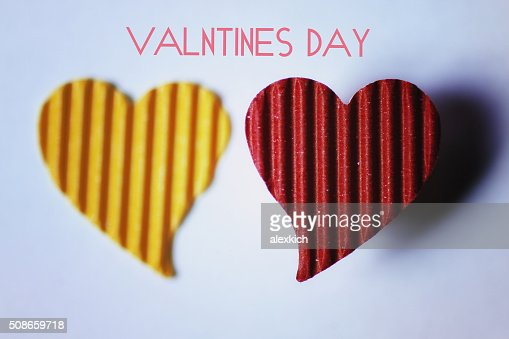 Cardboard heart shape : Stock Photo