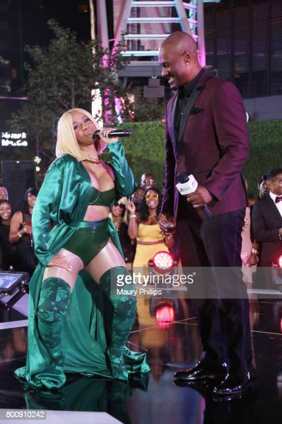 Cardi B and Big Tigger at the Post Show for the 2017 BET Awards on June 25 2017 in Los Angeles California