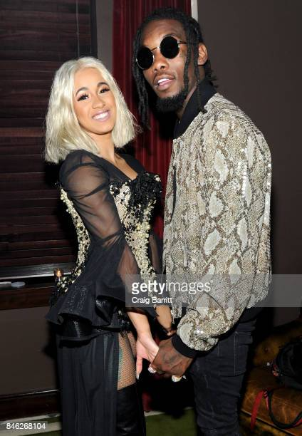 Cardi B and Offset attend NYLON's Rebel Fashion Party powered by Land Rover at Gramercy Terrace at Gramercy Park Hotel on September 12 2017 in New...