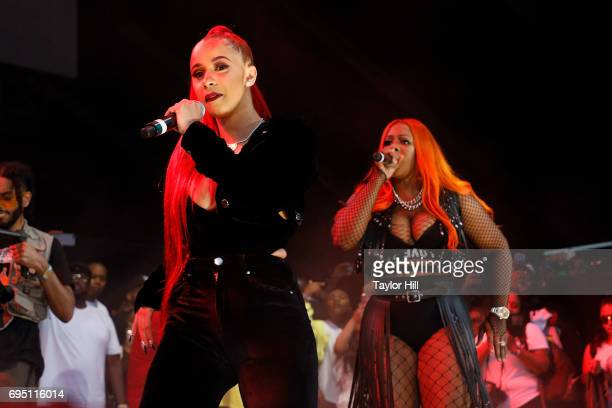 Cardi B and Remy Ma perform during the 2017 Hot 97 Summer Jam at MetLife Stadium on June 11 2017 in East Rutherford New Jersey