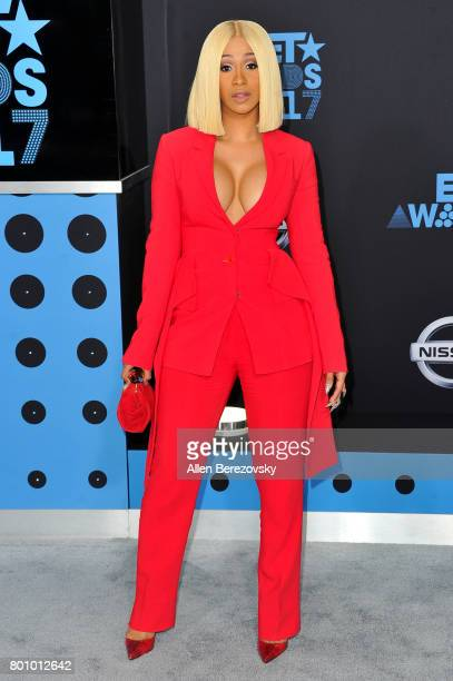 Cardi B arrives at the 2017 BET Awards at Microsoft Theater on June 25 2017 in Los Angeles California