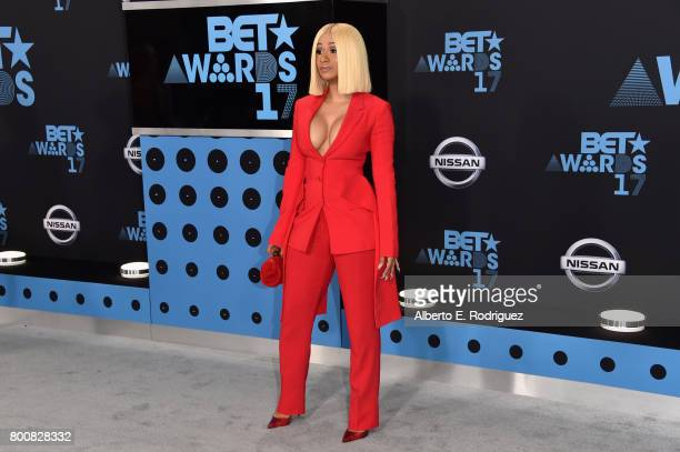 Cardi B at the 2017 BET Awards at Microsoft Square on June 25 2017 in Los Angeles California