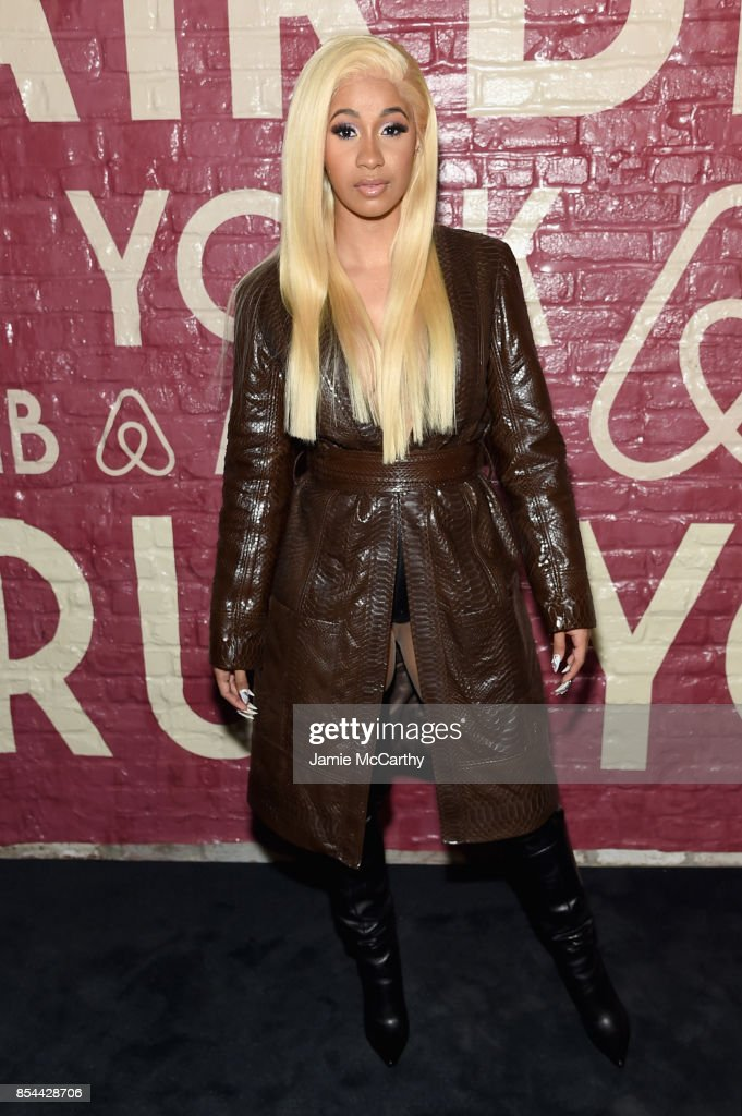 Cardi B attends Airbnb's New York City Experiences Launch Event on September 26, 2017 in the Brooklyn borough of New York City City.