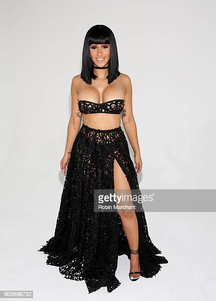Cardi B attends Laquan Smith Presentation September 2016 during New York Fashion Week on September 14 2016 in New York City