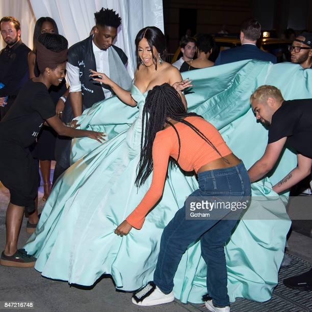 Cardi B attends the 2017 Diamond Ball at Cipriani Wall Street in Tribeca on September 14 2017 in New York City