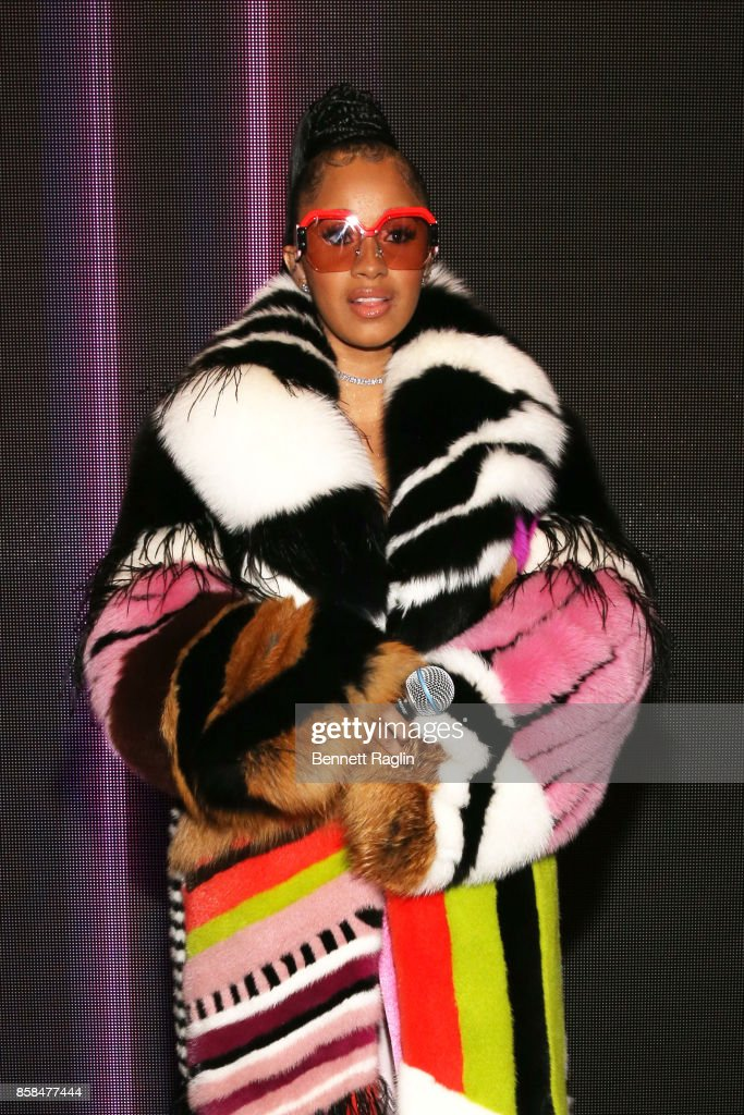 Cardi B attends the BET Hip Hop Awards 2017 at The Fillmore Miami Beach at the Jackie Gleason Theater on October 6, 2017 in Miami Beach, Florida.