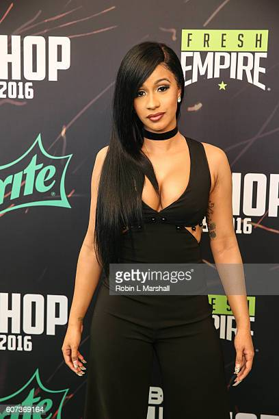 Cardi B attends the BET Hip Hop Awards at Cobb Energy Performing Arts Center on September 17 2016 in Atlanta Georgia
