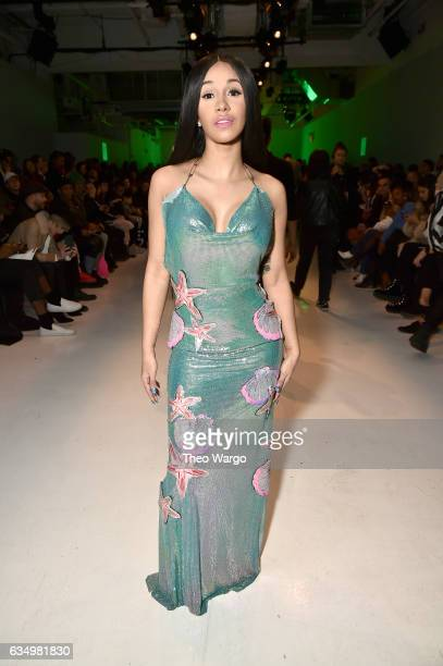 Cardi B attends the Namilia collection during New York Fashion Week The Shows at Gallery 3 Skylight Clarkson Sq on February 12 2017 in New York City