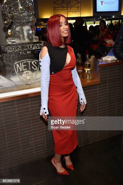 Cardi B attends the Tanduay Rum partnership with Barclays Center and the Brooklyn Nets celebration on March 12 2017 in New York City