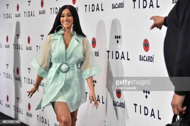 Cardi B attends TIDAL X Brooklyn at Barclays Center of Brooklyn on October 17 2017 in New York City